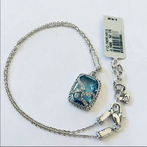 New Tender Hearts Aquamarine Necklace
